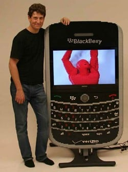 XXL LEGO BlackBerry Has Functional Flat screen