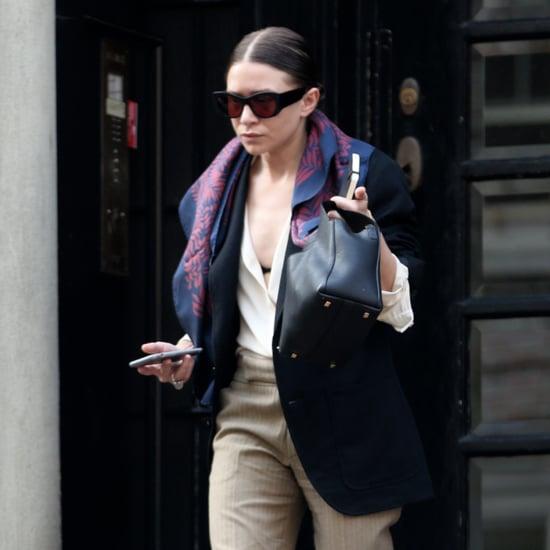 Ashley Olsen Wearing Khaki Pants March 2016