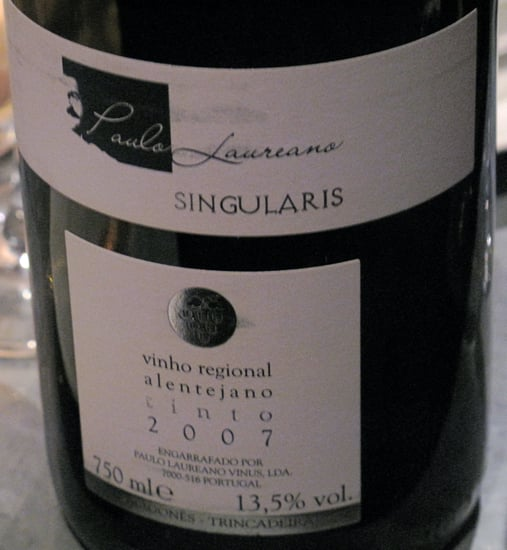 Happy Hour: 2007 Paulo Laureano Singularis