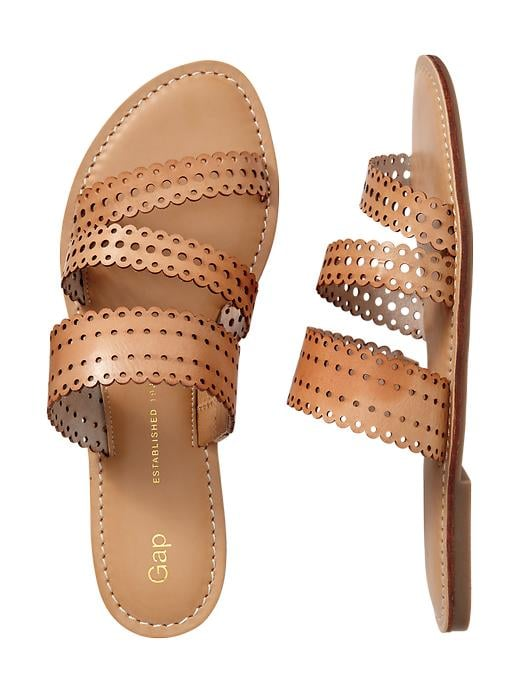 Think of the perforated details on Gap's slides ($40) as extra A.C.