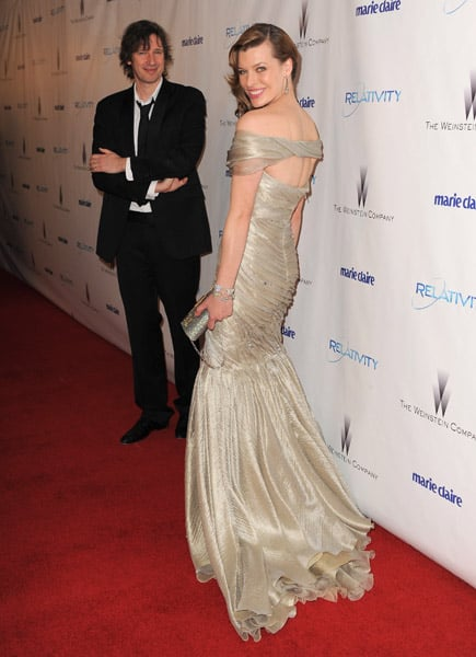 The back view of Milla Jovovich's dress.