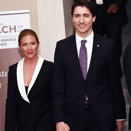 Sophie Trudeau Black and White Suit at Catalyst Awards 2016