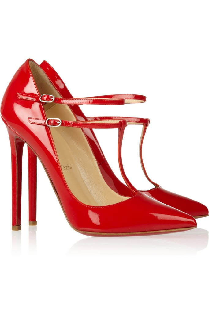 Red is classic, but these Christian Louboutin patent leather V-neck pumps ($725) are classic in color but sassy in shape. Throw them on with a little black dress or denim for a fun dressy vibe.