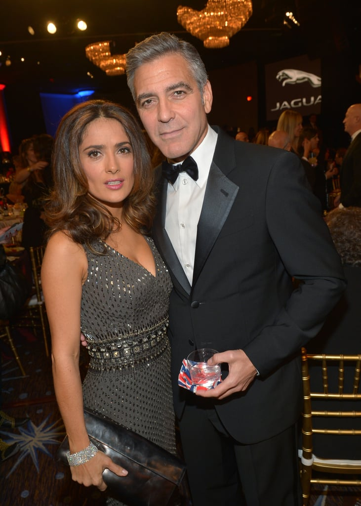 Salma Hayek and George Clooney mingled inside the event.