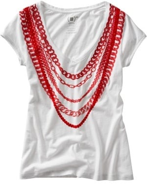 Photo of Stella McCartney For Gap (Product) RED Chain Tee 2009-12-01 04:00:22