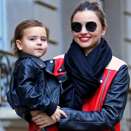 Miranda Kerr and Flynn Bloom in Leather Jackets | Pictures
