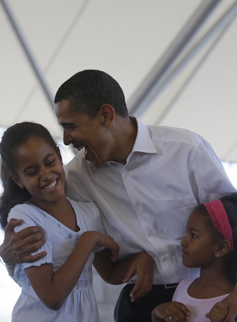 """At an event for fuel efficiency standards, Obama identified the right car for his daughter: """"As some of you may know, it's only a matter of time until Malia gets her learner's permit. So I'm hoping to see one of those models that gets a top speed of 15 miles an hour, the ejector seat anytime boys are in the car."""""""