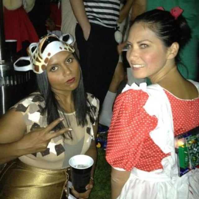 Mindy Kaling and Olivia Munn win a throwback Thursday award for this 2012 Halloween picture. Source: Instagram user mindykaling