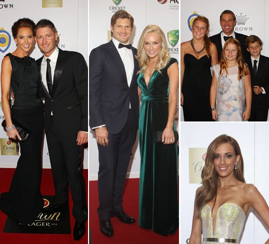Australian Cricketers and Their Wives and Girlfriends on the 2012 Allan Border Medal Red Carpet