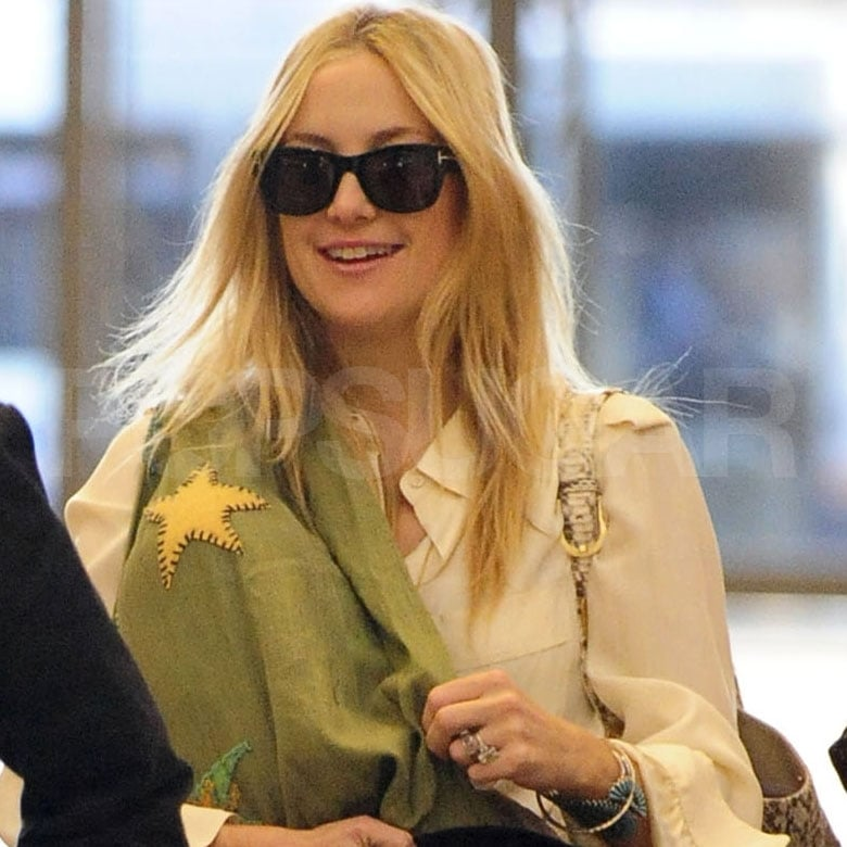 Kate Hudson was all smiles at LAX.