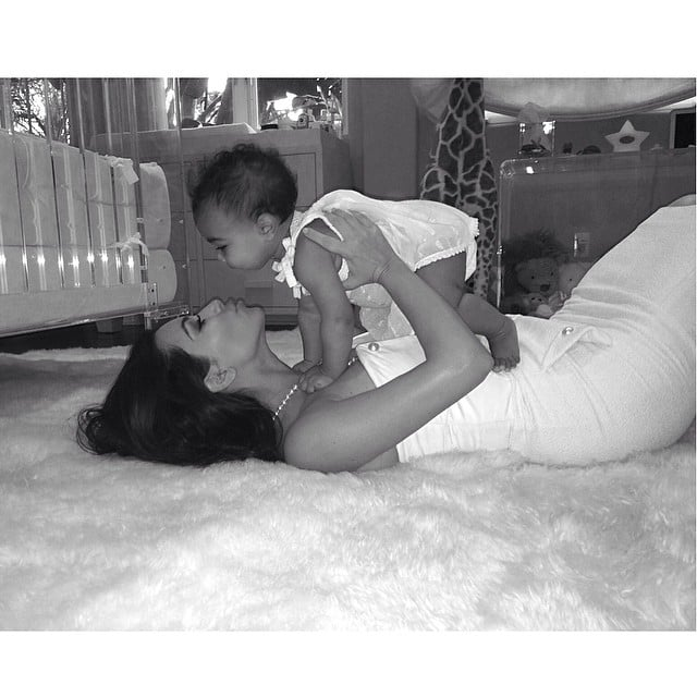 "Kim Kardashian had a loving moment with her and Kanye West's daughter, North. ""This little girl has changed my world in more ways than I ever could have imagined! Being a mom is the most rewarding feeling in the world! Happy Mothers Day to all of the moms out there!"" she wrote.  Source: Instagram user kimkardashian"