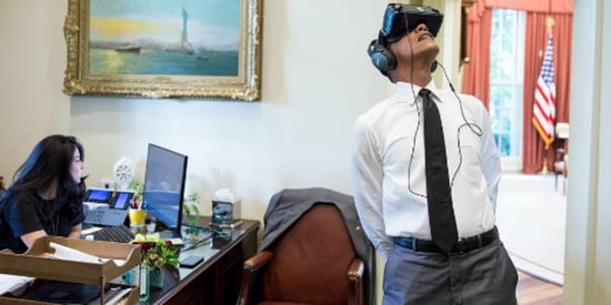 Obama Wears Virtual Reality Headset, Sparks Epic Photoshop Battle