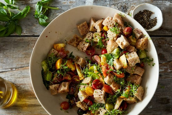 Bread Salad Made with Toasted Bread Isn't Panzanella