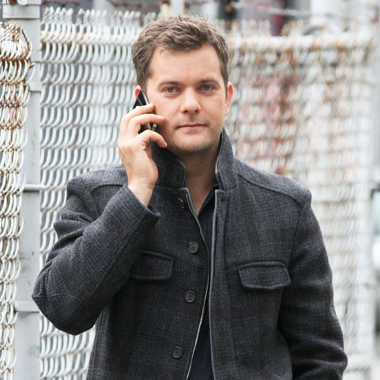 Joshua Jackson Talks on a Cell Phone on Fringe Pictures
