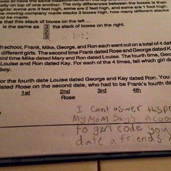 Girl Code Trumps Common Core Math Homework