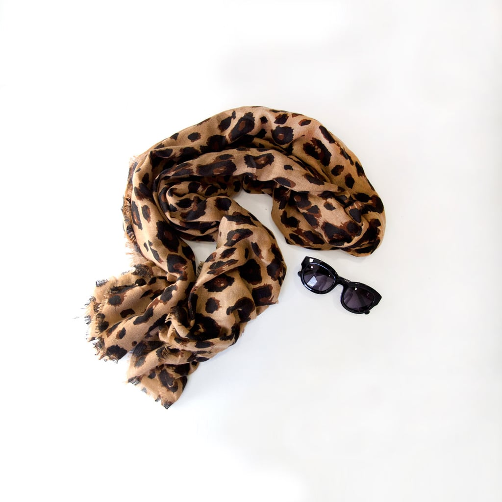 My trusty leopard print Sussan scarf. I'm one of those people who is always cold, so this comes with me every day. It's huge and makes me feel kind of famous when I'm wearing it. My sunnies are from Alphaville.
