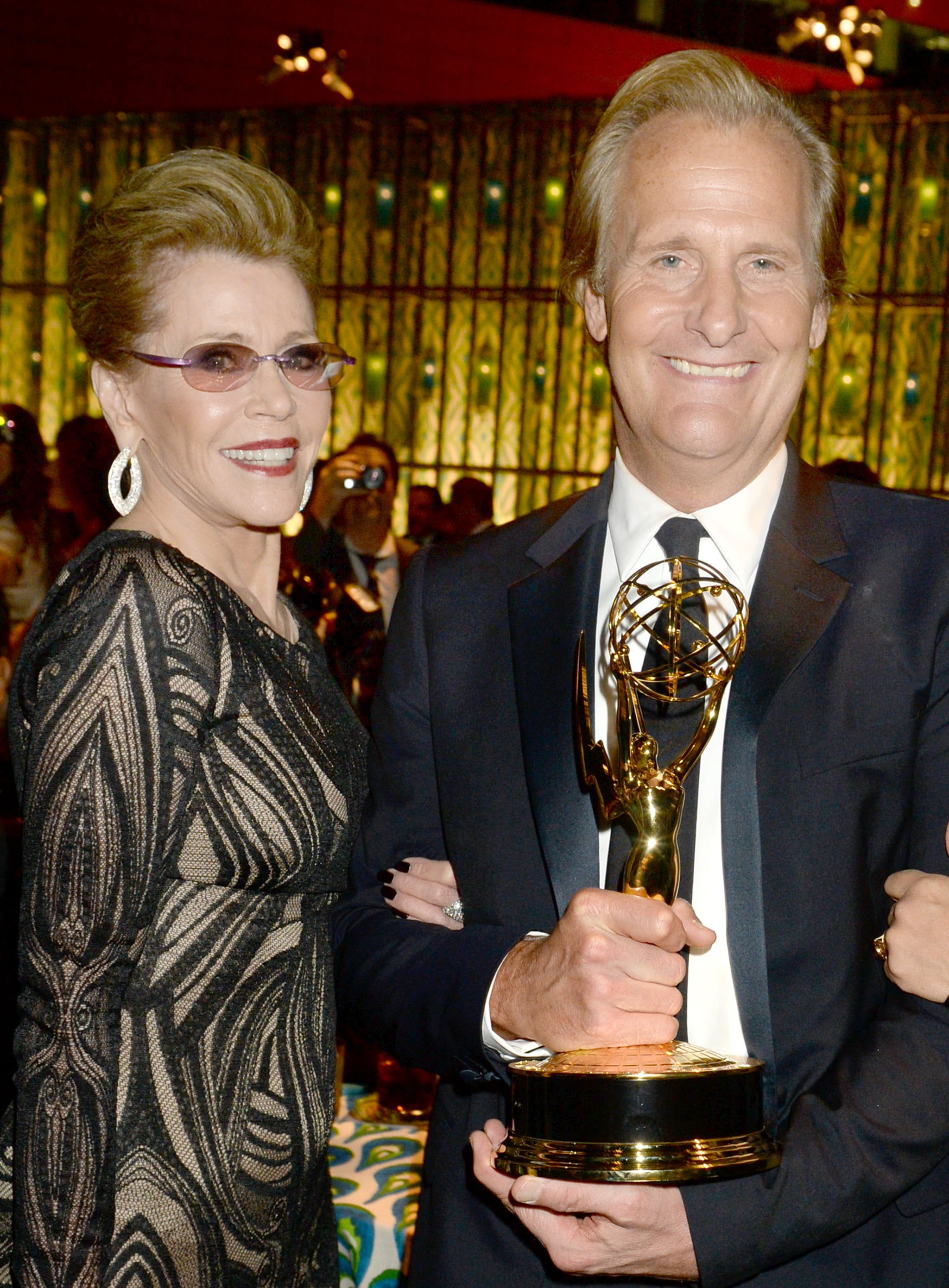 Jeff Daniels mingled with Jane Fonda at the 2013 HBO Emmys afterparty.