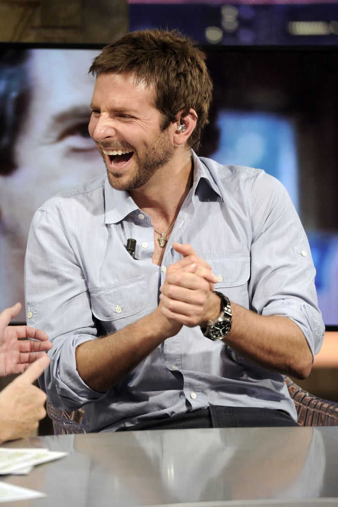 Bradley Cooper couldn't stop laughing during his TV stint in Spain.