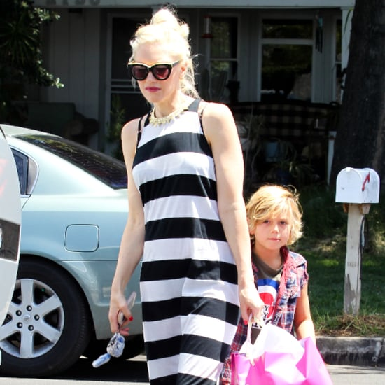 Gwen Stefani Striped Maxi Dress