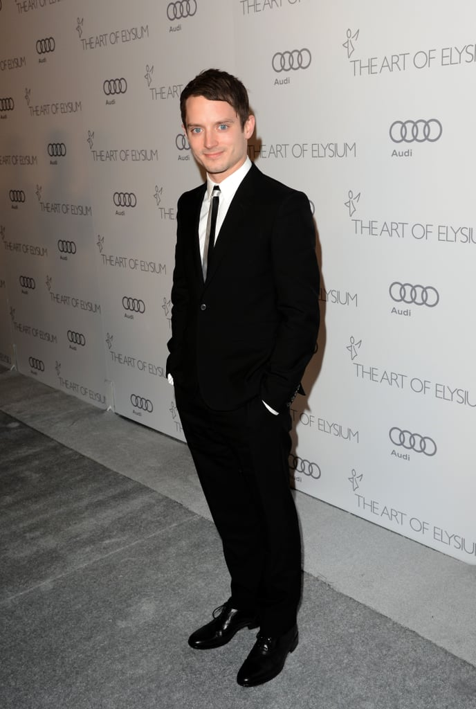 Elijah Wood hit the red carpet at The Art of Elysium's sixth annual Heaven gala.