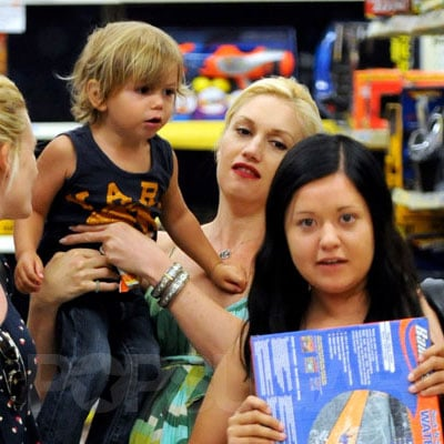 Gwen Stefani and Kingston Rossdale at K-Mart