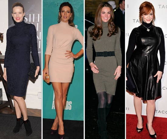 Turtleneck Dresses (Celebrity Pictures)