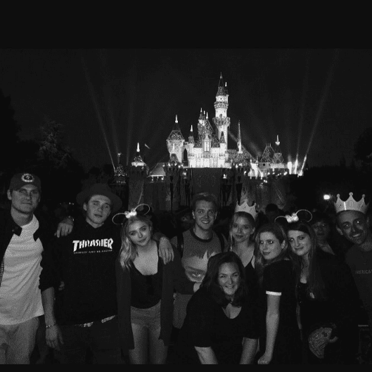 Chloe Moretz and Brooklyn Beckham at Disneyland May 2016