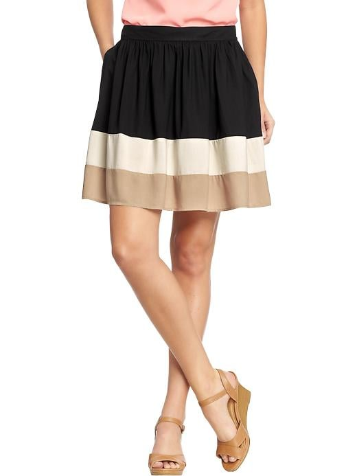 The colorblock trend isn't going anywhere. We love this neutral-hued Old Navy skirt ($23) as a new addition for your closet.