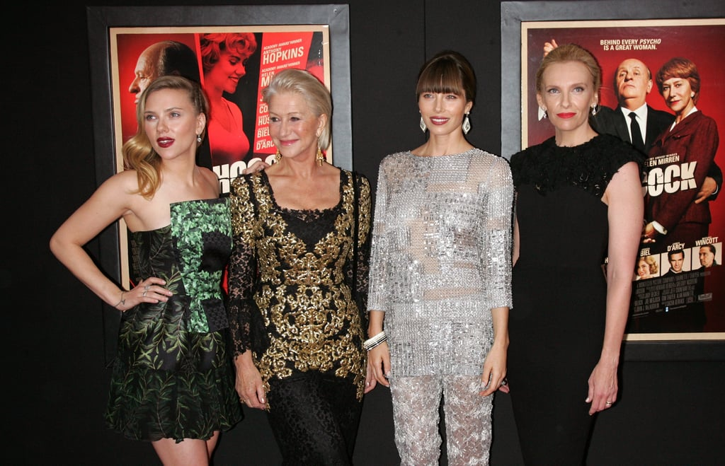 Jessica Biel, Scarlett Johansson, Toni Collette and Helen Mirren attended the NYC premiere of Hitchcock.