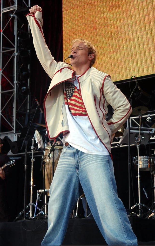 This fist pump with those jeans.