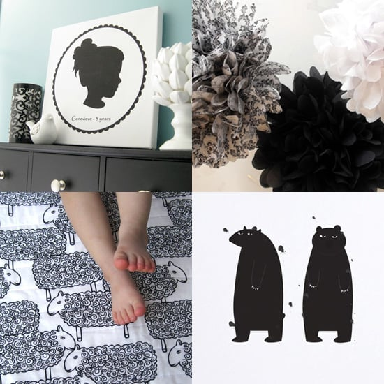 Black and White Baby Nursery Accents