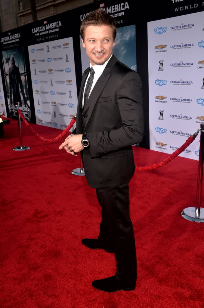Jeremy Renner got in on the premiere fun.