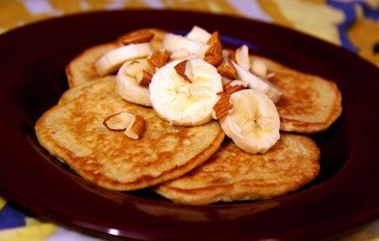 Banana Almond Oatmeal Pancakes