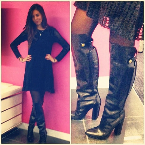 Associate Editor Marisa Tom tried on a killer pair of knee-high Alexander Wang boots.