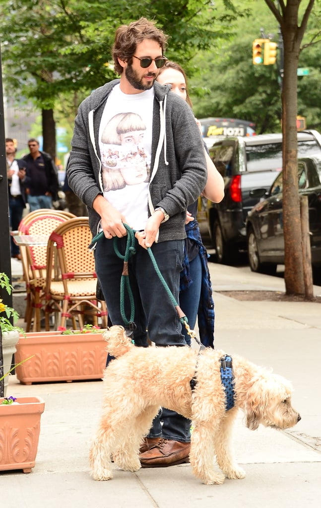 Josh Groban's pal, Sweeney, was by his side for a June 2015 walk around NYC.