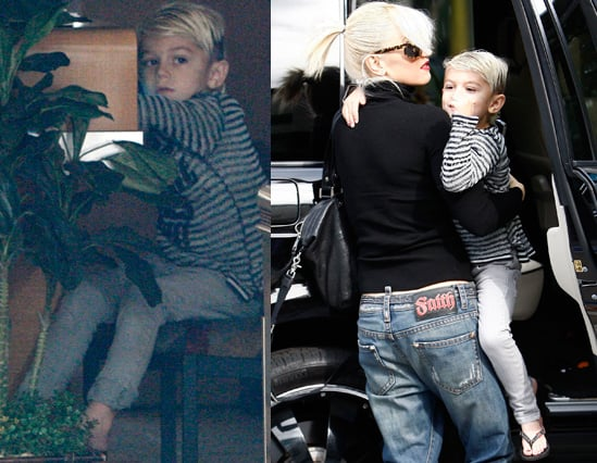 Pictures of Kingston Rossdale Getting Manicure