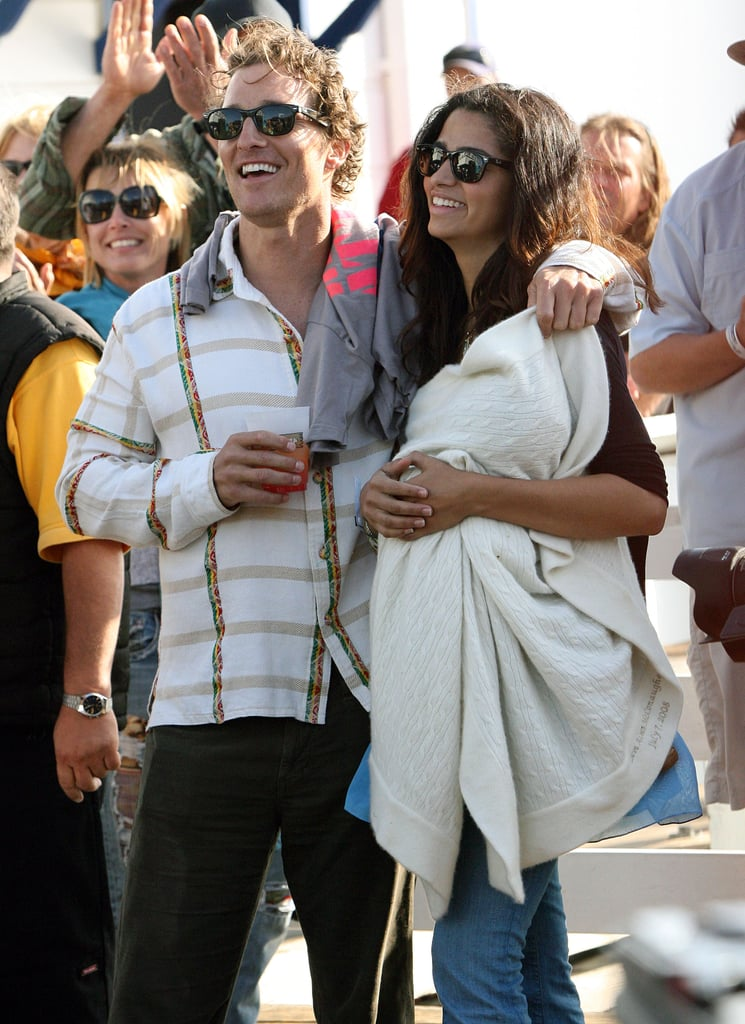 In April 2009, Matthew McConaughey and Camila Alves brought Levi to the MaliBLUE Art & Music Festival.