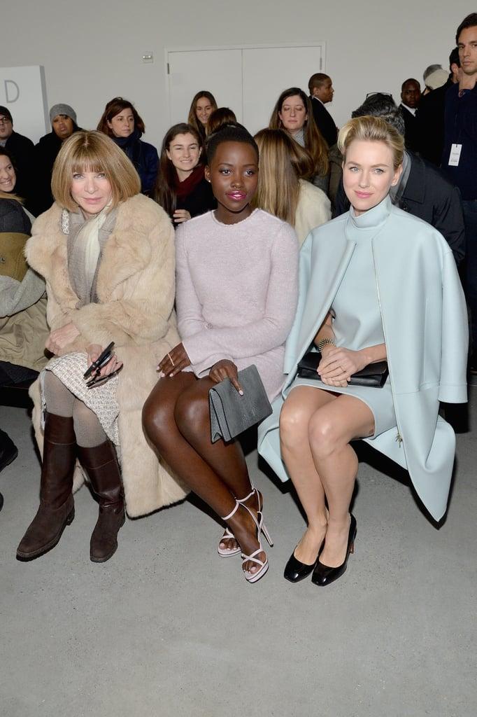 Anna Wintour, Lupita Nyong'o, and Naomi Watts