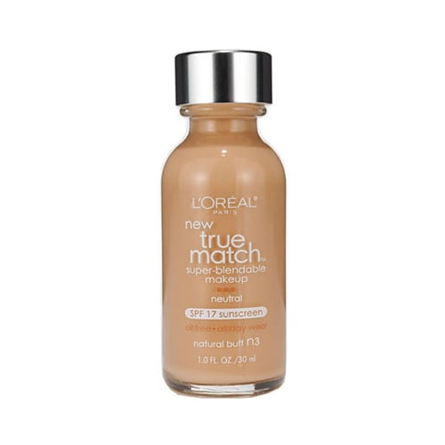There's no problem finding the perfect shade with the  L'Oréal True Match Super Blendable Makeup ($10). The colors are based on warm or cool undertones, so you'll never come out looking orange.