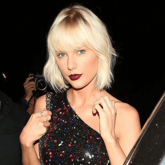 Taylor Swift's Bleach Blonde Hair and Dark Lips