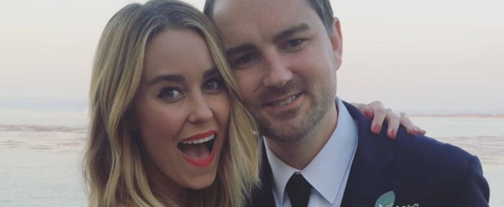 Wait Until You See the Sleek, Simple Dress Lauren Conrad Wore to Her Friend's Wedding