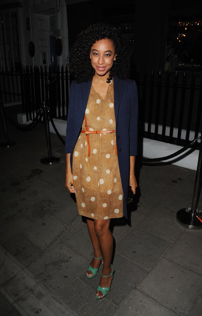 Corinne Bailey Rae looked totally sweet in polka dots and kelly green heels.