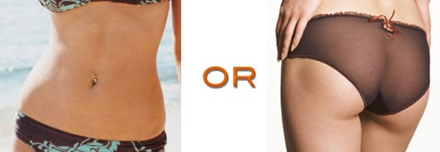 What's More Important to You: Flat Belly or Toned Tush?