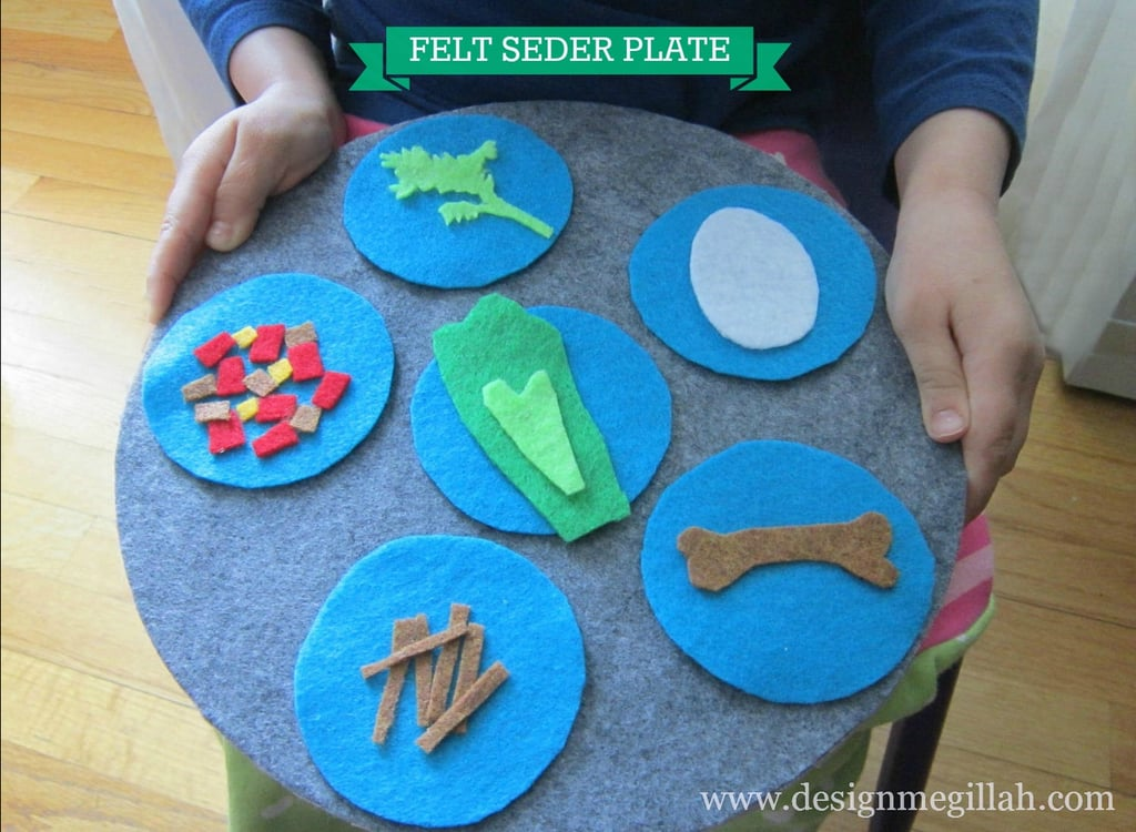 A Felt Seder Plate