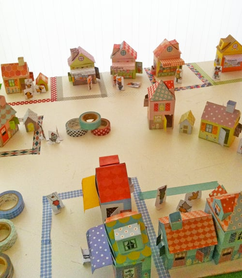 For Any Time of Year: A Washi Tape Village