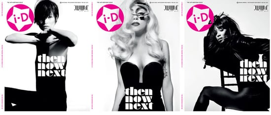 Lady Gaga, Kate Moss and Naomi Campbell on Cover of i-D Magazine September 2010 2010-08-10 00:52:47