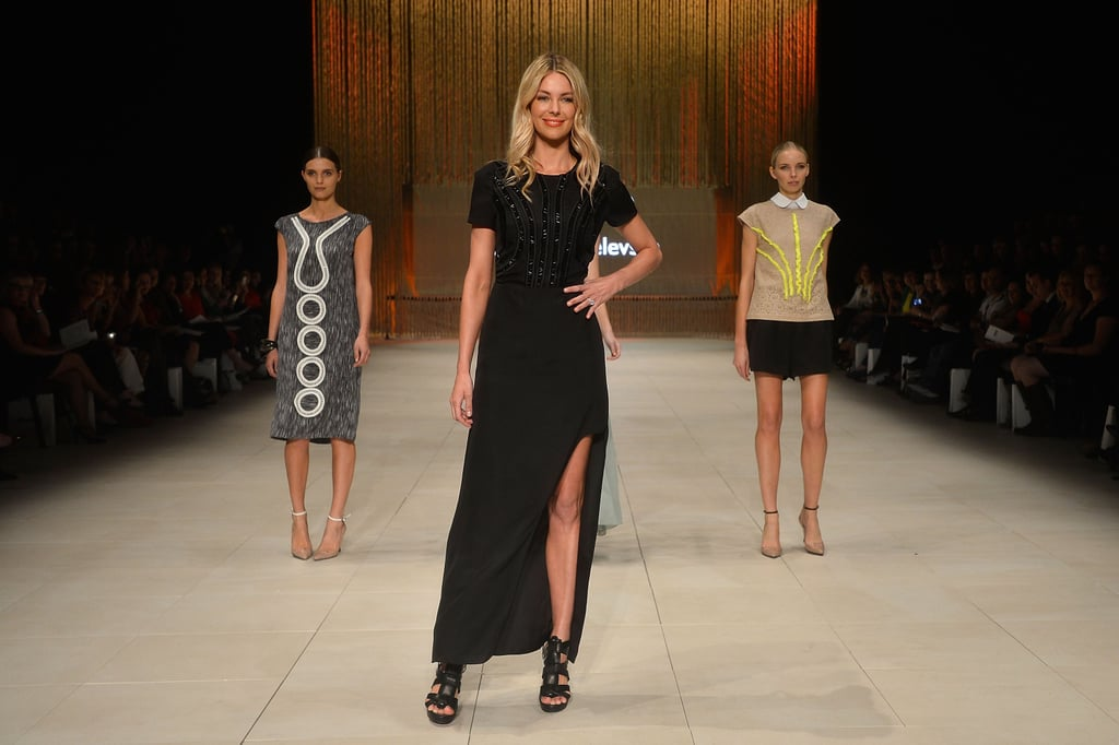 Jennifer Hawkins Returns to the MBFF Runway in Bikinis and Gowns For Myer