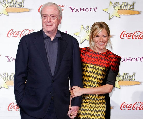 Photo of Sienna Miller and Michael Caine at the ShoWest Awards