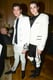 Harry and Peter Brant set off their white designs with leather accents at the Balmain afterparty.