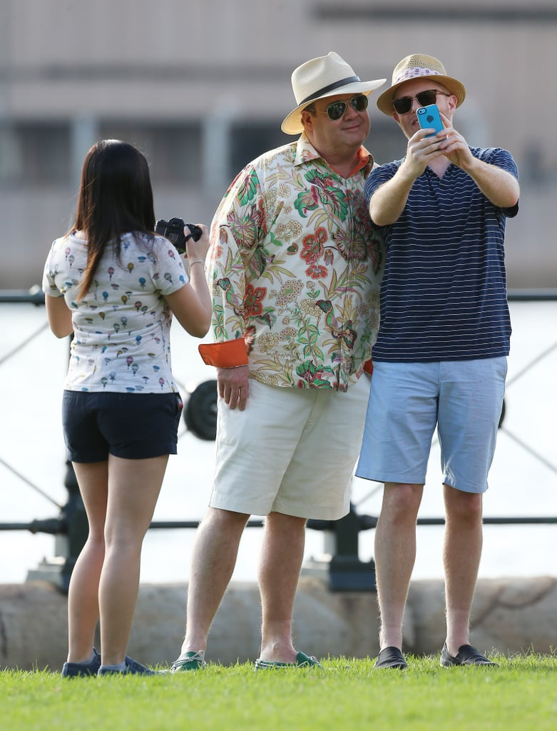 Ariel Winter took a photo of Eric and Jesse in Sydney on Feb. 20.